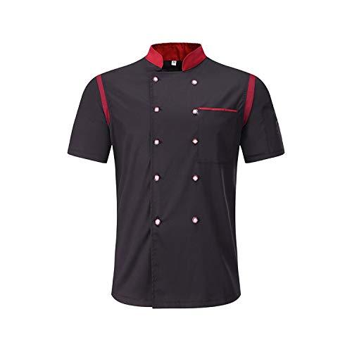 Sunonvi grembiuli da uomo da donna divise patchwork traspiranti giacche da cuoco traspiranti doppiopetto cucina abiti da lavoro cameriere