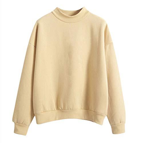 Frauen Sweatshirt Teenager Mädchen Hoodies Einfarbig Bluse Sweater Langarm Pulli Sprüche Pullover Sport Hoodies Top Jumper Oberteile Top Shirt -