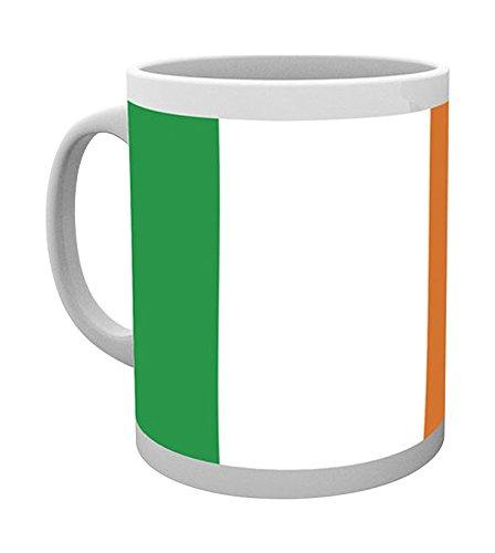 empireposter Ireland - Flag - Irische Flagge Keramik Tasse - Größe Ø8,5 H9,5cm