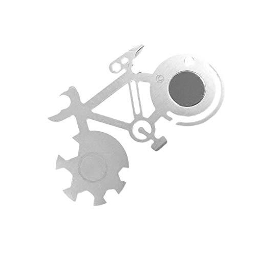 Provide The Best Mountain Bike-Werkzeug-Karte Multi-Werkzeug Cutter im Freien Überlebens-Werkzeug-Skala Dosenöffner Schneid Schraubendreher (Bike-skala)