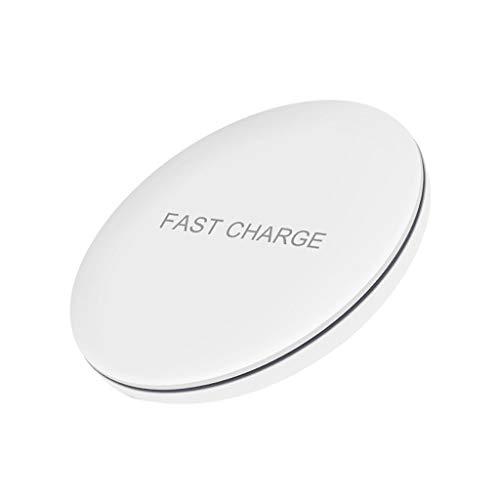 SilenceID Kabelloses Ladegerät 15 W Kabelloses QI-Schnellladegerät Ladekissen Ständer Dock-Halter für iPhone X für Samsung -