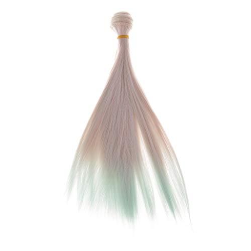 B Blesiya DIY Puppe Perücke/Kunsthaar/Wig Puppenzubehör, aus Hochtemperaturdraht, ca. 25 x 100 cm - Farbverlauf -3