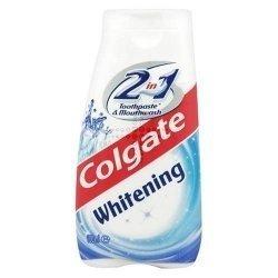 DREI PACKS von Colgate 2 in 1 Whitening Zahnpasta & Mundwasser (Zahnpasta Colgate Whitening)