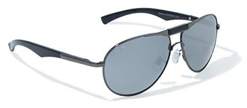 Swag Sonnenbrille Global Vision Eyewear Sonnenbrille Aviator C-Serie mit Gun Metall Rahmen und Flash Mirror Objektive