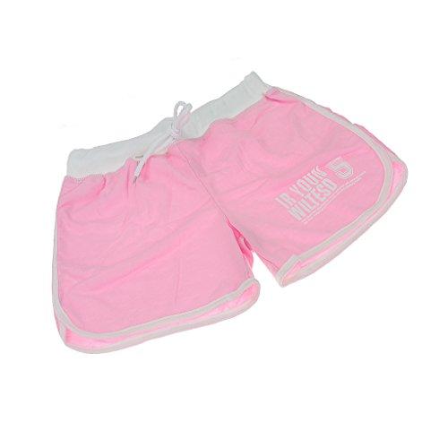 Damen Badeshorts Sport Hose Schwimmen Bikinihose Wassersport Schwimmshorts Boardshorts Hotpants Sportbikini Bunte Farben Pink