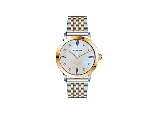Eterna Eternity Lady Quartz Watch, ETA 956.412, Rose Gold, PVD, 32mm, Diamonds