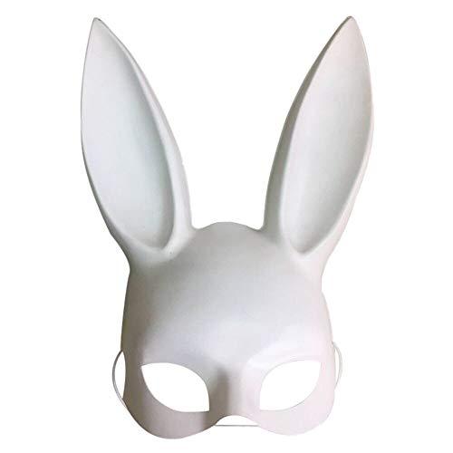 Halloween Maske Schwarz Weiß Bondage Bunny Rabbit Maskerade Party Masken Festival Cosplay Dekoration Große Lustige Masken,White