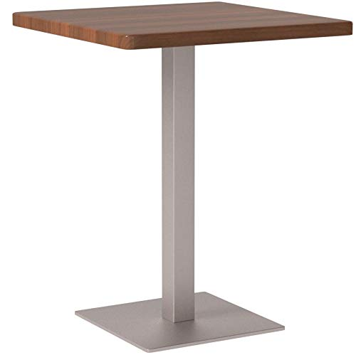 SixBros. Bartisch Bistrotisch Tisch Nussbaum Holzoptik 60x60x75 - M-BT60/1431