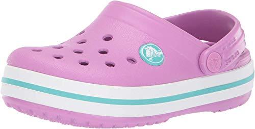 Crocs crocband clog k, zoccoli unisex-bambini, rosa (violet/pool 5pe), 32/33 eu