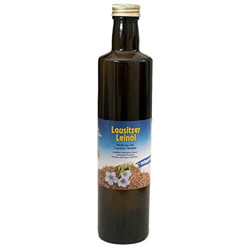 Lausitzer Leinöl (kaltgepresst Omega 3 Öl kaltgepreßtes Leinöl), 500ml
