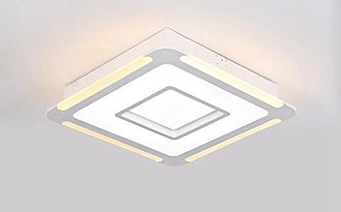 Jingzou lampe led plafond moderne minimaliste bureau salon chambre lumineuse chaude 53*53CM 36W