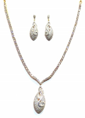 Jewelshingar American Diamond Necklace Set For Women ( 9781-nad-plain )