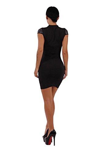 JOTHIN 2017 Femmes Robe Imprimé à Sans Manches Sexy Slim Package Hanche Couleur Unie de Robe de Cou Ronde Bandage Jupe étape Jupe(S-XL) Noir