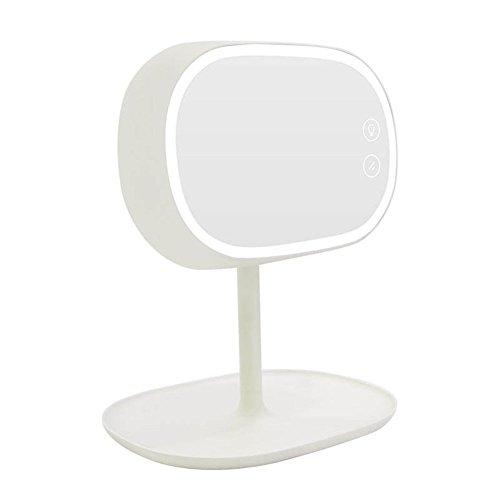 Schminkspiegel Tischleuchte Schlafzimmerspiegel LED Beleuchteter Schminkspiegel Makeup Werkzeug Stand Schminkspiegel Fülllicht Schminkspiegel Mit HD Spiegel Smart Fülllicht Natürliche Daylight Schminktischlampe,White