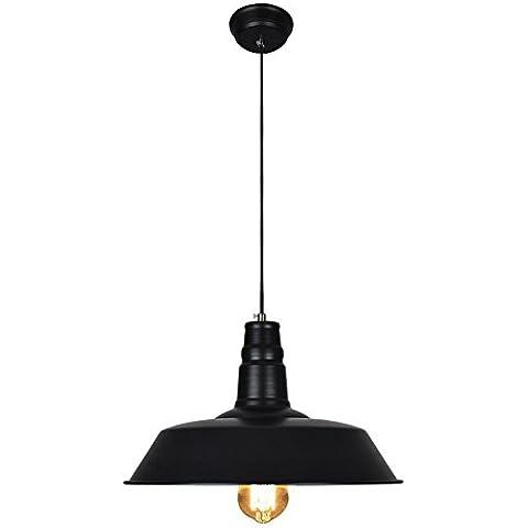 BJVB Estilo vintage colgante colgante de luces. la cortina de hierro. luz de techo colgante luz W46CM * H130CM