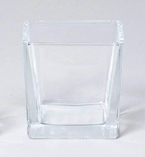 INNA-Glas Set 6 x Teelichthalter LEVI, Würfel - viereckig, klar, 10x10x10cm - Kerzenhalter - Windlicht