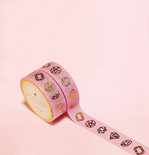 Hell Rosa Pastellfarben Diamanten Gold Foil Washi Tape for Planning • Planer und Organizer • Scrapbooking • Deko • Office • Party Supplies • Gift Wrapping • Colorful Decorative • Masking Tapes • DIY -