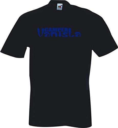 Camping Motorhomes Vdub Bay Campervan Van Bus Splitty Camper Vanista T Shirt