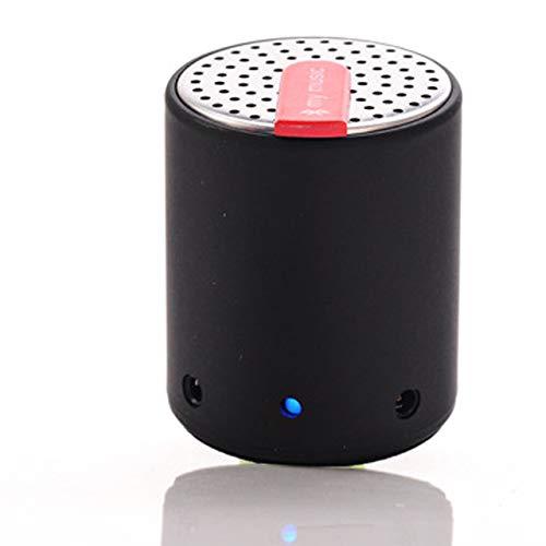 qiyanMini Super Portable Bluetooth 3.0 Haut-Parleur sans Mains Libre Enhanced Bass Microphone Creative Bluetooth Cylindre Haut-parleurs-in Portable Haut-parleurs Noir