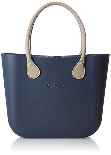 O bag b001_017, borsa a mano donna, (blu navy), 14x31x39 cm (w x h x l)