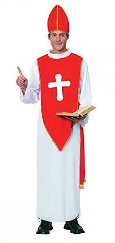 Inception Pro Infinite Einheitsgröße - Kostüm - Crossdressing - Karneval - Halloween - Bischof - Priester - Priester - Katholisch - Kirche - Weiße Farbe - Erwachsene - Mann - Junge (Priester 2019 Kostüm)