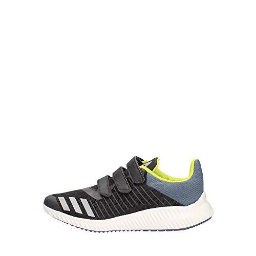 adidas Unisex Baby Fortarun Cloudfoam Sneaker, Schwarz (Carbon/Silvmt/Rawste), 25 EU