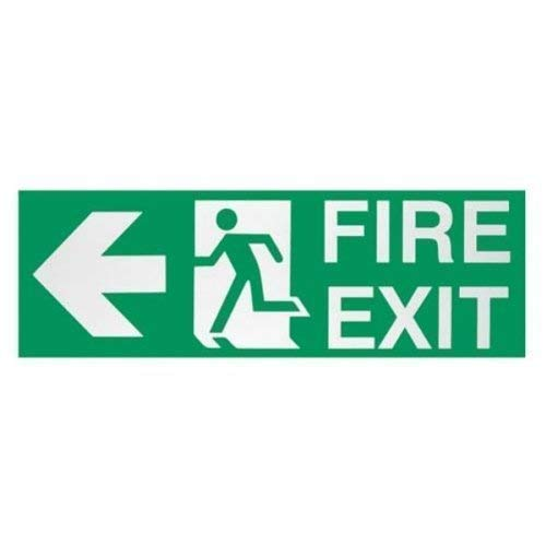 Neu Sicherheit Lifeguard Keep Clear Notfall- Information Notausgang Rettung Zeichen - Feuer Ausgangsschild (Links), One Size