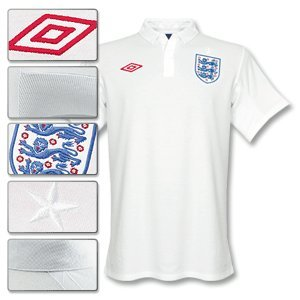 Umbro England Trikot Shirt 736100 JHT Fussball Größe S L XL weiß, Farbe:weiß;Textilien Größen:L