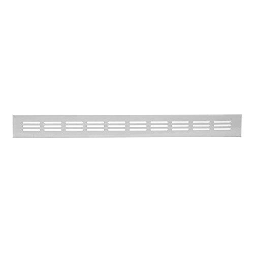 Trobak Stegblech Lüftungsgitter eloxiert 400 x 40 mm Heizkörperblech