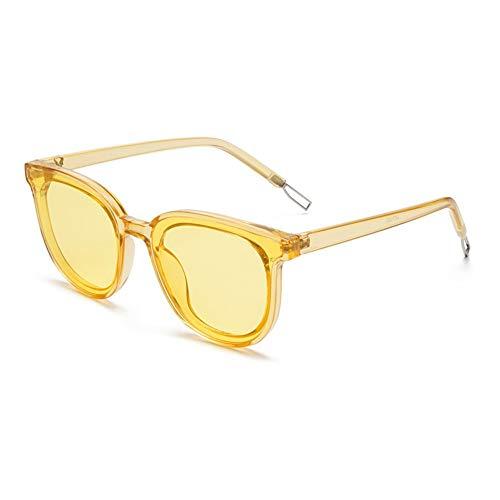 AOEIY Sonnenbrillen Polarisiert UV400 Schutz UV Strahlen Trend Sommer Herren Damen Mode Design Retro Vintage Gläser Ultra Leicht Autofahren Laufen Radfahren Angeln Golf Transparentes gelbes Ozeangelb