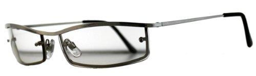 Metall Brille klar spiegelnde Gläser
