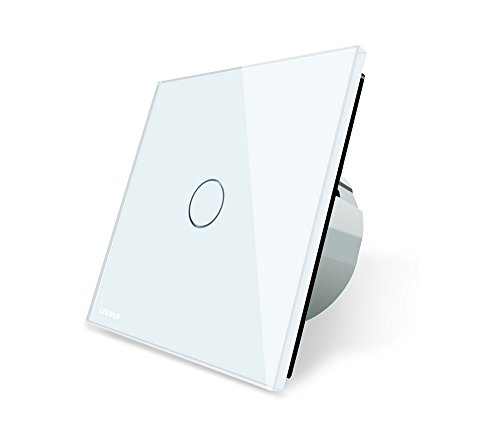 Preisvergleich Produktbild Design Glas Touch Taster Impulsschalter weiß