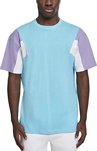 Urban Classics Herren 3-Tone Tee T-Shirt, Aqua/Lavender/White, XXL -