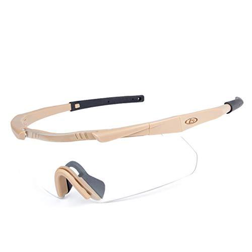 MaxAst Sportbrille Polarisiert Motorradbrille Motocross Outdoor Schutzbrille Beschlagfrei Gelb