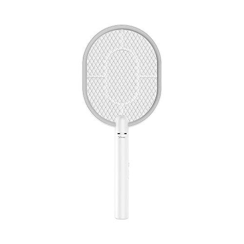 CJAN Wiederaufladbare elektrische Fliegenklatsche Handheld Bug Zapper für Moskito-Fliegen-Killer zur Schädlingsbekämpfung Indoor Outdoor Sicherheit Mesh Racket USB-Aufladung (Licht-haus 250)
