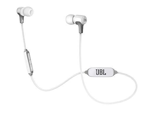 JBL E25BT In Ear Bluetooth Kopfhörer in Weiß - Kabelloser Ohrhörer mit 3-Tasten-Fernbedienung & Mikrofon - Wireless Headphones für bis zu 8 Stunden Musik und Telefonate (Big Ten Shirt)