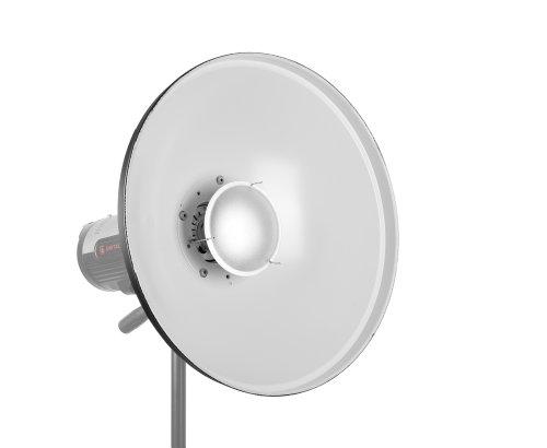 JINBEI 50cm universal Beauty-Dish Reflektor/Lichtformer/ Blitzvorsatz, an viele Studioblitze adaptierbar