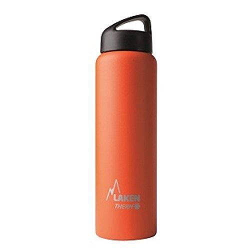 Laken Thermo Classic Thermosflasche Isolierflasche Edelstahl Trinkflasche Weite Öffnung - 1 Liter, Orange (Camelbak-classic-trinkflasche)