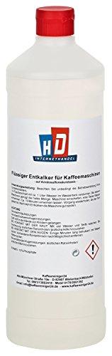 Kaffeereiniger24 – qualitativer Universal-Entkalker | universell einsetzbarer Flüssig-Entkalker | Einfache Anwendung für 4 Entkalkungen | umweltfreundlich | made in germany | 1000ml
