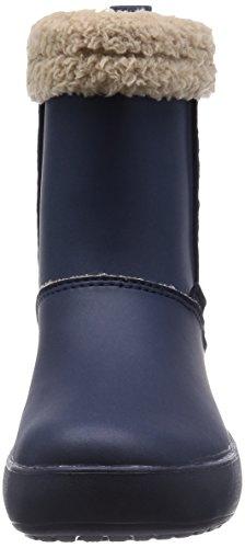 Crocs Colorlite Snug Boot Gs, Boots mixte enfant Bleu (Navy/Tumbleweed)