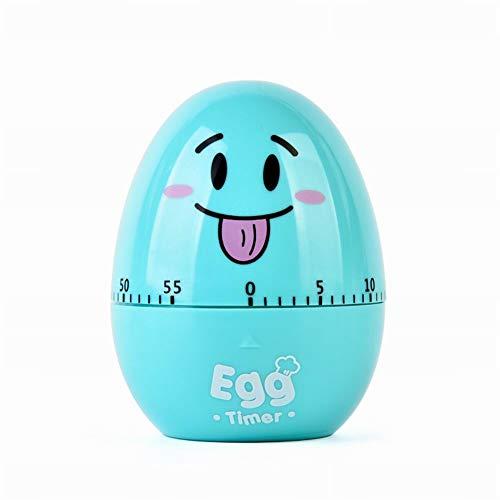 Küche 60 Minute Egg Timer (YOUNICER Cute Kitchen Egg Timer -60 Minuten Eiförmige mechanische rotierende Alarm für Das Kochen)