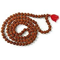 Rudraksha Japa Mala + 1 108 cuentas de rosario de cuentas de alta calidad