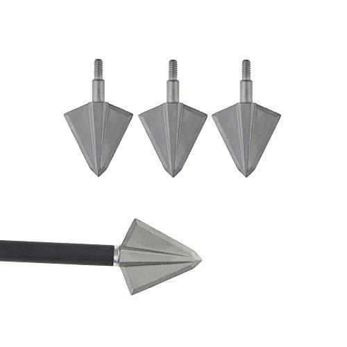 ZSHJG 6 Stück Bogenschießen Pfeilspitze Repariertes Blatt Jagdspitzen Metall Ziel Pfeilspitze Für die Jagd im Freien DIY Pfeile