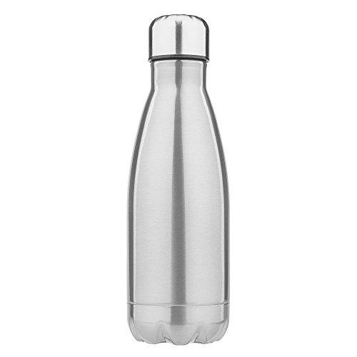 VKING Termo Acero Inoxidable Botella De Agua Plata 350ml Con Aislamiento Al Vacío Watter Bottle En Acero Inoxidable Para Excursión Fácil De Llevar