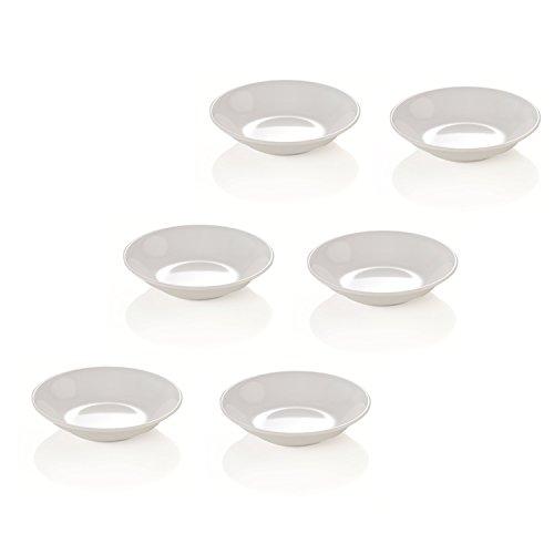Kerafactum® Lot de 6 coupelles à Sauce Rondes en mélamine Passe au Lave-Vaisselle Dip Bowl
