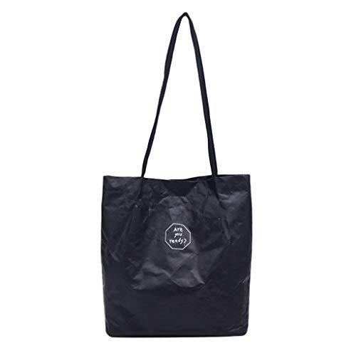 Dc Womens Shorts (VJGOAL Schultertasche Damen Frauen Mädchen Retro Kraftpapier Einfarbig Wasserdicht Umhängetasche Handtasche)