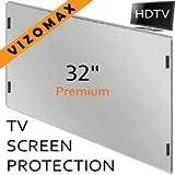 32-Zoll-Vizomax TV-Bildschirm-Schutz für LCD, LED und Plasma-HDTV. UV-Schutz, Fernseher-Displayschutz Protector