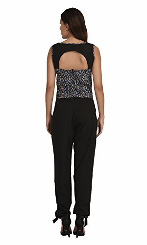 The-Gud-Look-Womens-Navy-Small-Flower-Print-Jumpsuit