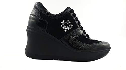 Ruco Line - Zapatos de Cordones para Mujer Negro Size  35 EU cbb173724fb