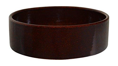K&K Kleintier Futterschale vollglasiert braun 9x4 cm aus Steinzeug-Keramik